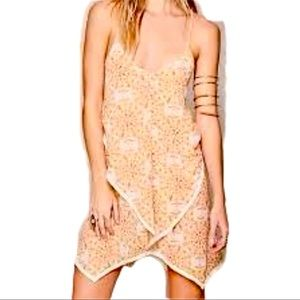 FREE PEOPLE floral tiered RACERBACK TANK DRESS